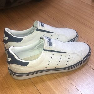 Adidas Stan Smith. White and blue shoes
